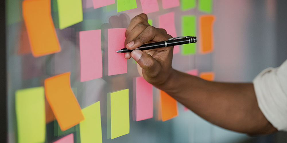 Writing-on-post-its