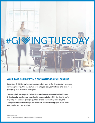2019-Summer-GivingTuesday-Checklist